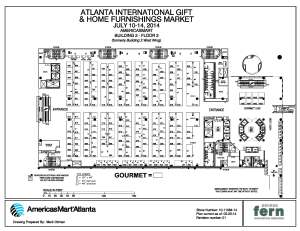 example tradeshow floor plan at AmericasMart Atlanta