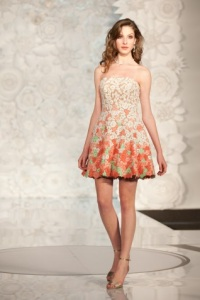 bridesmaid dress with florals