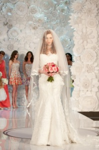 Flowers with wedding dress