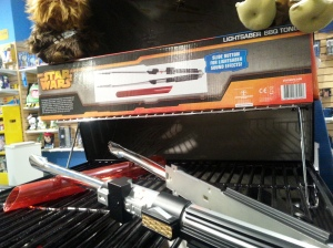 Underground Toys light saber grill tongs at AmericasMart Atlanta
