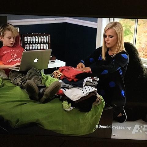 Jenny McCarthy's son, Evan, in a DiLascia tee.