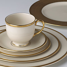 Elegant place setting by Lenox.
