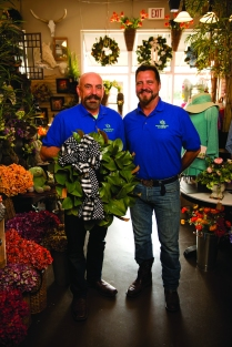 Gary Skaggs, left, and Frank Schuster, right, owners of Seasons At The Lake in Davidson, NC. Photos by Davis Turner